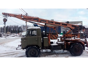 Бурильно-крановая машина на базе ГАЗ-66